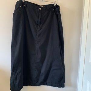 2/$18 Cargo Style / Black / Maxi Skirt